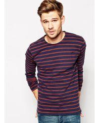 Selected Stripe Long Sleeve Top - Lyst