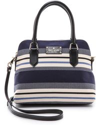 Kate Spade Grove Court Stripe Maise Bag - Rich Navy Stripe - Lyst