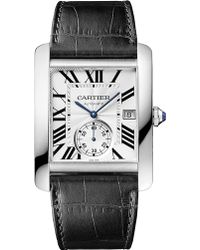 Cartier Tank Mc Stainless Steel And Leather Watch - For Men silver - Lyst