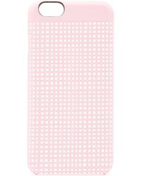 Marc By Marc Jacobs Mini Gingham Mirror Selfie Iphone 6 Case pink - Lyst
