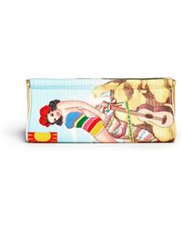 Charlotte Olympia Fiesta Magazine Embroidery Long Clutch - Lyst