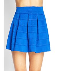 Forever 21 Pleated A-Line Skirt - Lyst