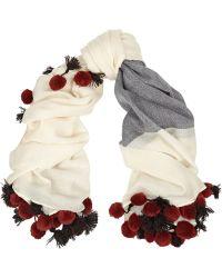 By Malene Birger Embellished Wool Scarf - Lyst