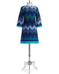 Eliza J Patterned Shift Dress - Lyst