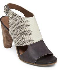 Lucky Brand Otta High-Heel Leather Sandals - Lyst