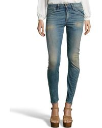6397 Light Faded Twisted Seam Skinny Jeans - Lyst