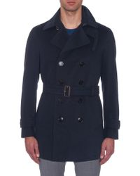 Gucci Brushed-Cotton Trench Coat - Blue