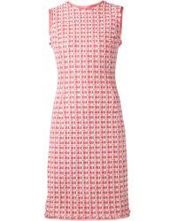 Oscar de la Renta Tweed Pencil Dress - Lyst