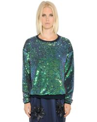 Essentiel - Sequined Heavy Cotton Sweatshirt - Lyst