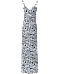 Matthew Williamson Monostar Washedsilk Maxi Dress - Lyst