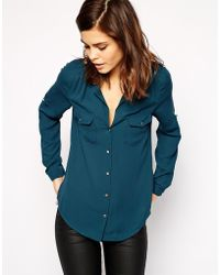 Oasis Button Detail Shirt - Lyst