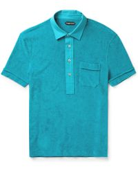 Tom Ford - Cotton-terry Polo Shirt - Lyst