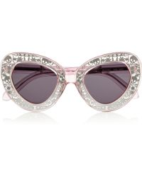 Karen Walker Intergalactic Cat Eye Acetate Sunglasses - Lyst