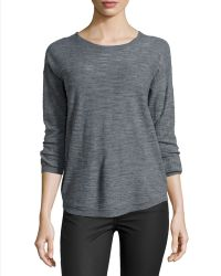 Halston Heritage Half-sleeve Slub Sweater - Lyst