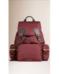 Burberry | The Large Rucksack In Technical Nylon And Leather | Lyst