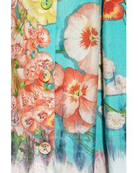 Clements Ribeiro - Foxglove Floral-Print Washed-Silk Dress - Lyst