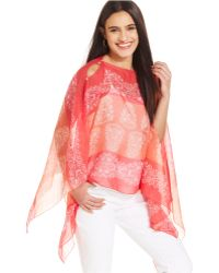 Collection XIIX Placed Scroll Scarf Top - Lyst