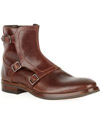Alexander McQueen Triple Buckle Ankle Boot - Lyst