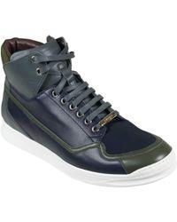 Dior Sneaker Alta Rosso Blu Uomo - Lyst