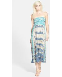 Gypsy 05 Tie Dye Convertible Maxi Dress - Lyst