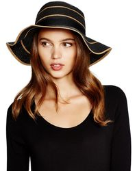 August Accessories - Stripes Abound Floppy Hat - Lyst
