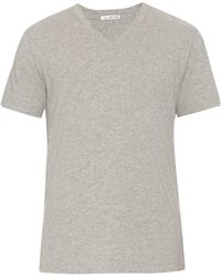 James Perse V-neck Jersey T-shirt - Lyst
