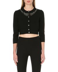 Marc Jacobs Sequindetail Cropped Cardigan Black - Lyst