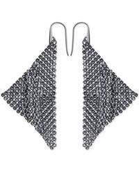 Swarovski Fit Silver Tone and Crystal Drop Earrings - Lyst