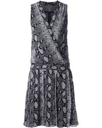 Proenza Schouler Snakeskin Print Wrap Dress - Lyst