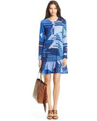 Diane von Furstenberg Dvf Leanne Flirty Silk Tunic Dress - Lyst