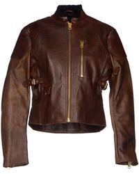 Acne Studios Brown Jacket - Lyst