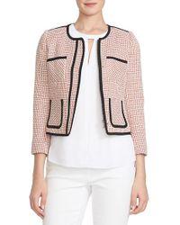 Cece by Cynthia Steffe - Patch Pocket Tweed Jacket - Lyst