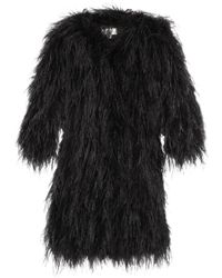 Temperley London Feather And Silk-Satin Coat - Lyst