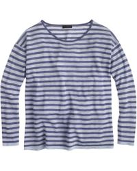 J.Crew Collection Featherweight Cashmere Long-Sleeve Tee In Stripe - Lyst