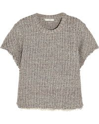 IRO Devan Frayed Tweed Top - Lyst