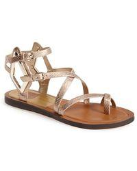 Dolce Vita 'Ferrah' Flat Leather Sandal - Lyst