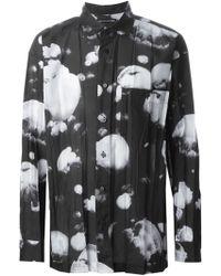 Issey Miyake Abstract Print Shirt black - Lyst