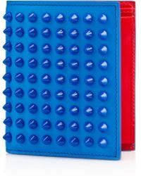 Christian Louboutin Paros Spikes Wallet blue - Lyst