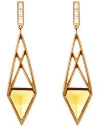 Monique Péan - White-Diamond, Citrine & Gold Earrings - Lyst