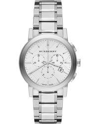 Burberry Mens The City Chronograph Watch - Metallic