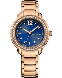 Tommy Hilfiger Womens Rose Gold Ion-plated Stainless Steel Bracelet Watch 36mm - Lyst