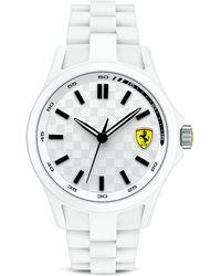 Scuderia Ferrari - Pit Crew White & Black Watch, 46.1Mm - Lyst