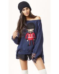 Wildfox Soldier Boy Lenon Sweater - Lyst