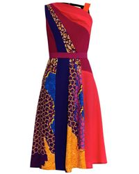 Peter Pilotto Torrent Contrast-Panel Dress - Lyst