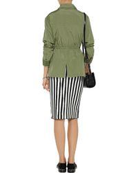 A.L.C. Jake Striped Stretch-knit Pencil Skirt - Lyst