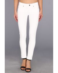 Paige Skyline Ankle Peg In Optic White - Lyst