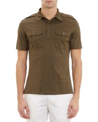 Ralph Lauren Black Label - Epaulette Polo Shirt - Lyst