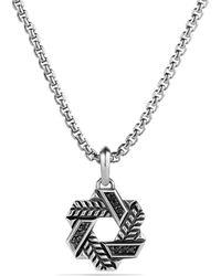 David Yurman Modern Chevron Star Of David with Black Diamonds - Lyst