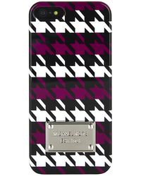 Michael by Michael Kors Houndstooth Iphone 5 Cover - Lyst
