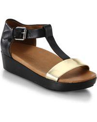 Gentle Souls Janelle Leather & Metallic Leather Sandals - Lyst